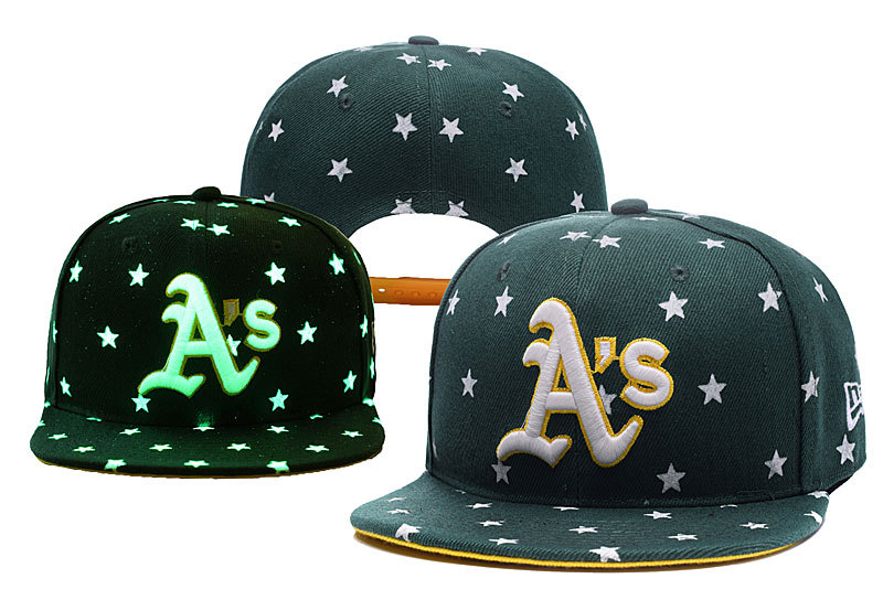 Athletics Team Logo Green Adjustable Luminous Hat YD