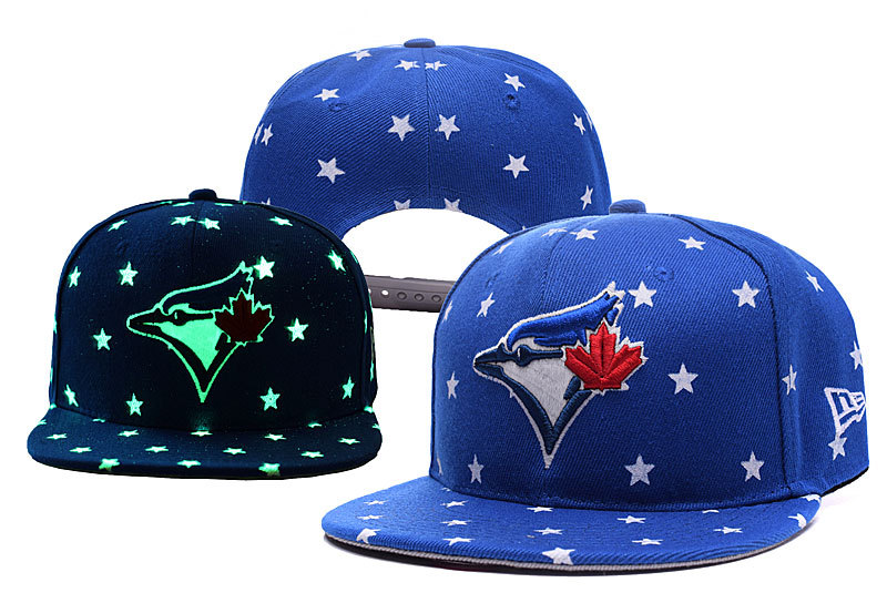 Blue Jays Team Logo Blue Adjustable Luminous Hat YD