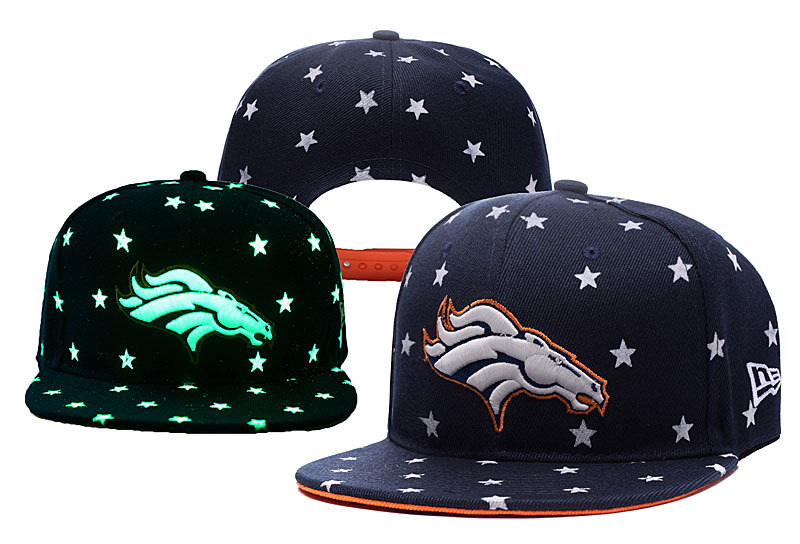 Broncos Team Logo Navy Adjustable Luminous Hat YD