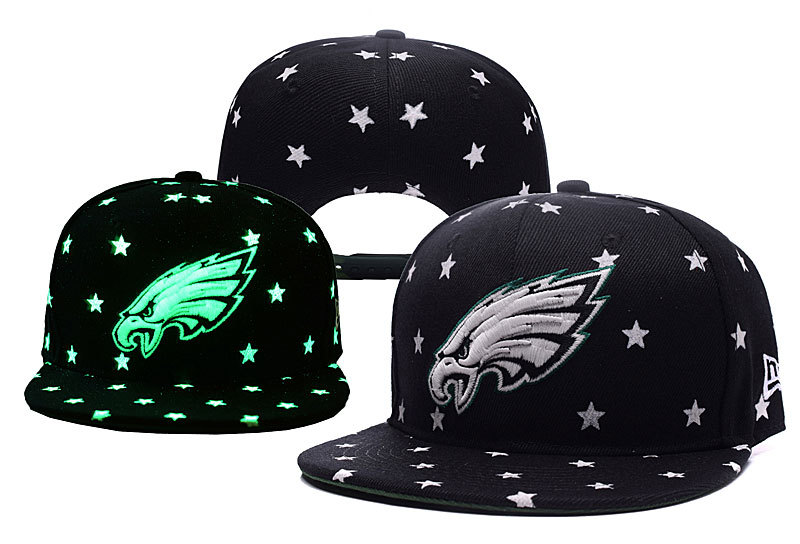 Eagles Team Logo Black Adjustable Luminous Hat YD