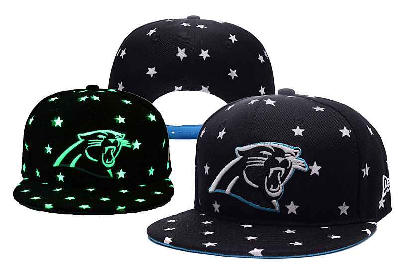Panthers Team Logo Black Adjustable Luminous Hat YD