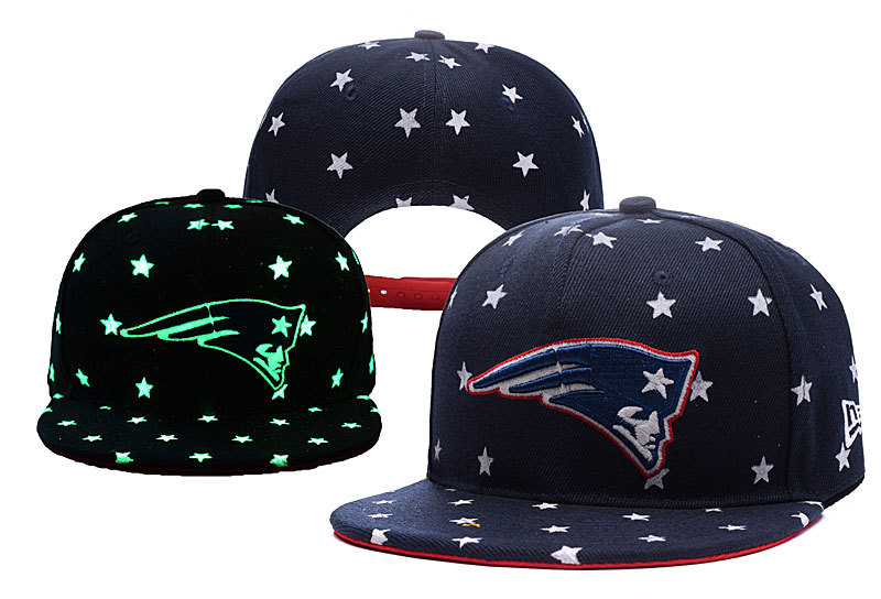 Patriots Team Logo Navy Adjustable Luminous Hat YD