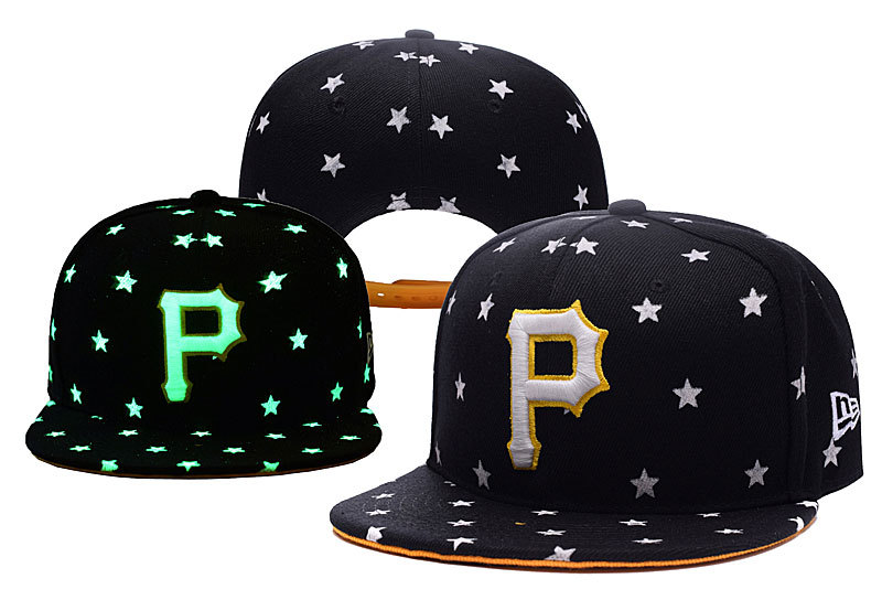 Pirates Team Logo Black Adjustable Luminous Hat YD