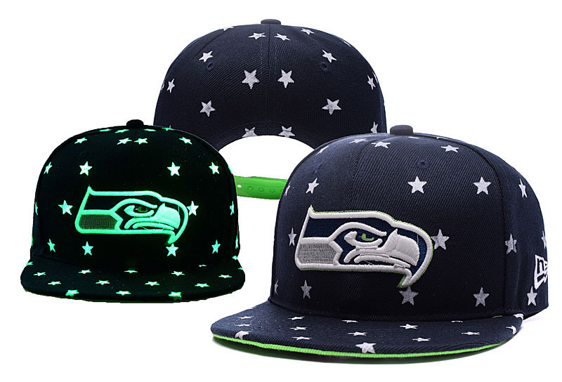 Seahawks Team Logo Navy Adjustable Luminous Hat YD
