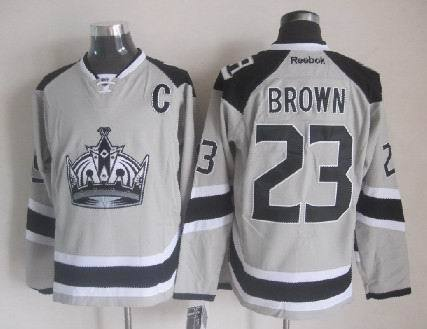 Kings 23 Brown Grey 2014 Stadium Series Jerseys