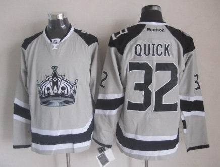 Kings 32 Quick Grey 2014 Stadium Series Jerseys