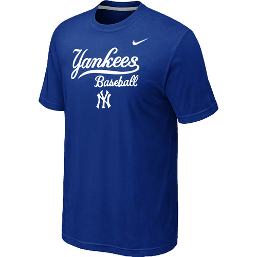 Nike MLB New York Yankees 2014 Home Practice T-Shirt Blue