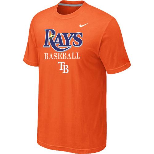 Nike MLB Tampa Bay Rays 2014 Home Practice T-Shirt Orange