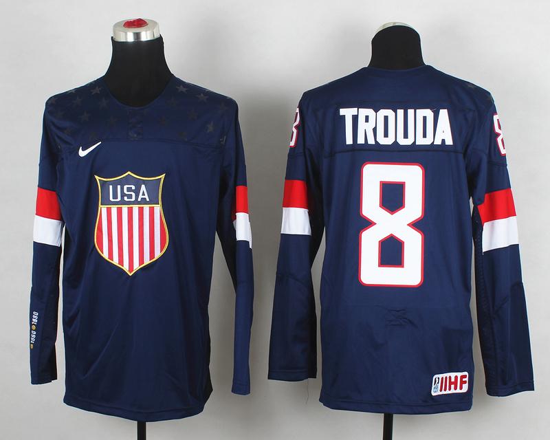USA 8 Trouda Blue 2014 Olympics Jerseys