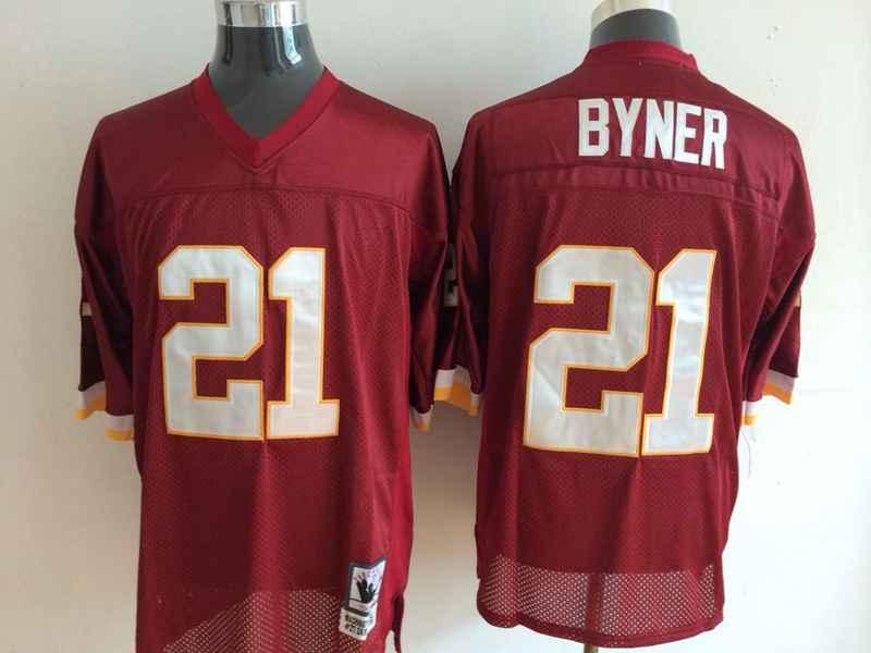 Redskins 21 Byner Red Mitchell&Ness Jerseys
