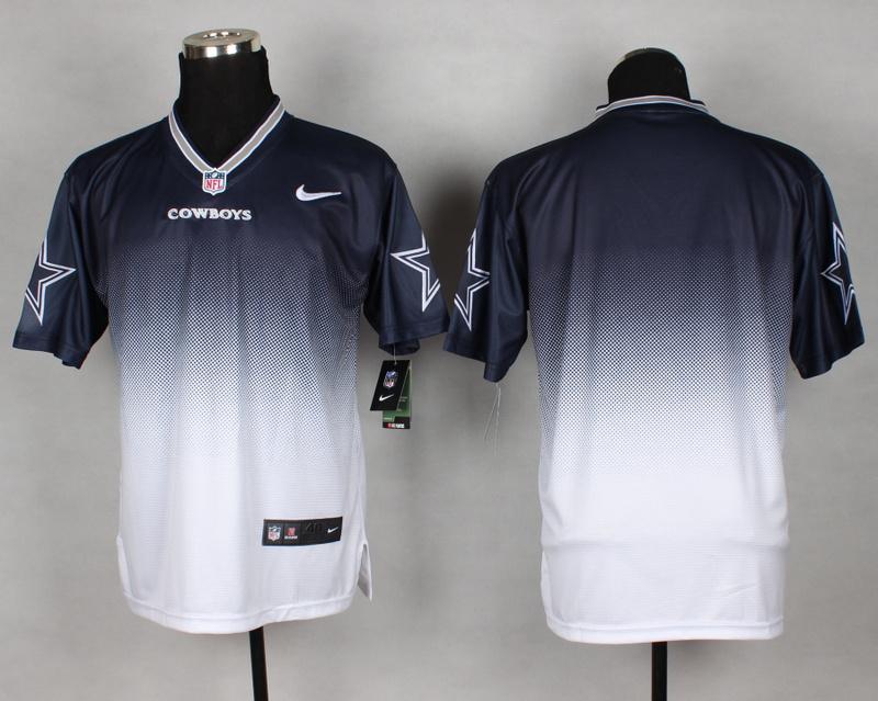 Nike Cowboys Blue And White Drift II Elite Custom Jerseys