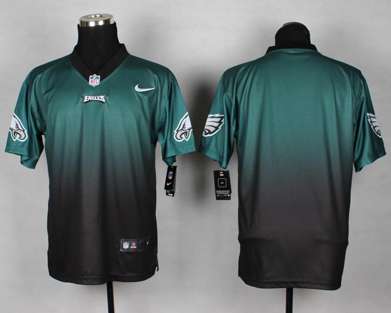 Nike Eagles Green And Black Drift II Elite Custom Jerseys