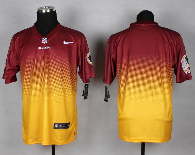 Nike Redskins Red And Gold Drift II Elite Custom Jerseys