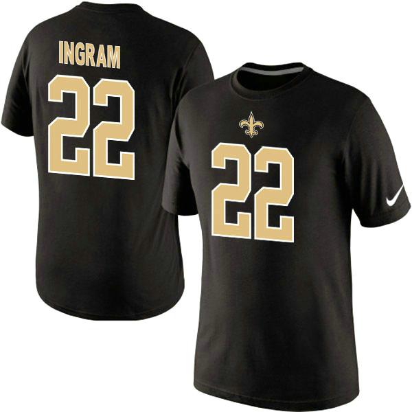 Nike Saints 22 Ingram Black Fashion T Shirts