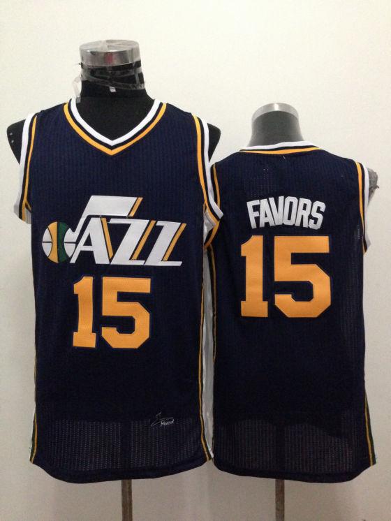 Jazz 15 Favors Navy Blue New Revolution 30 Jerseys