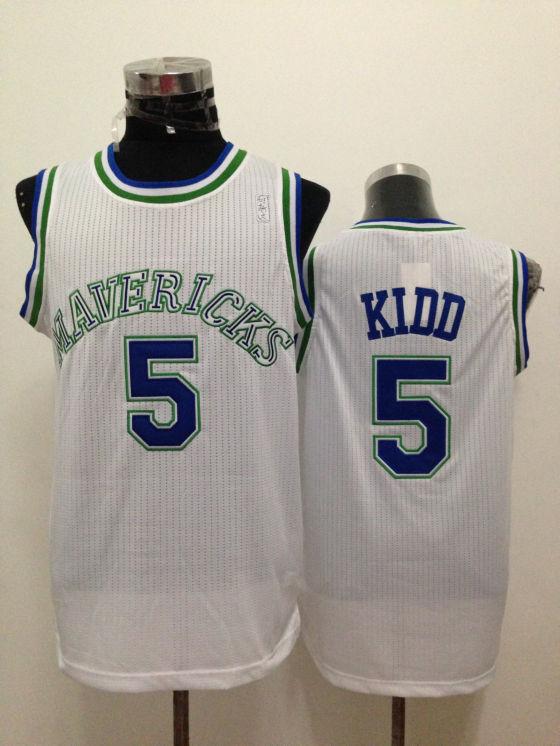 Mavericks 5 Kidd White New Revolution 30 Jerseys