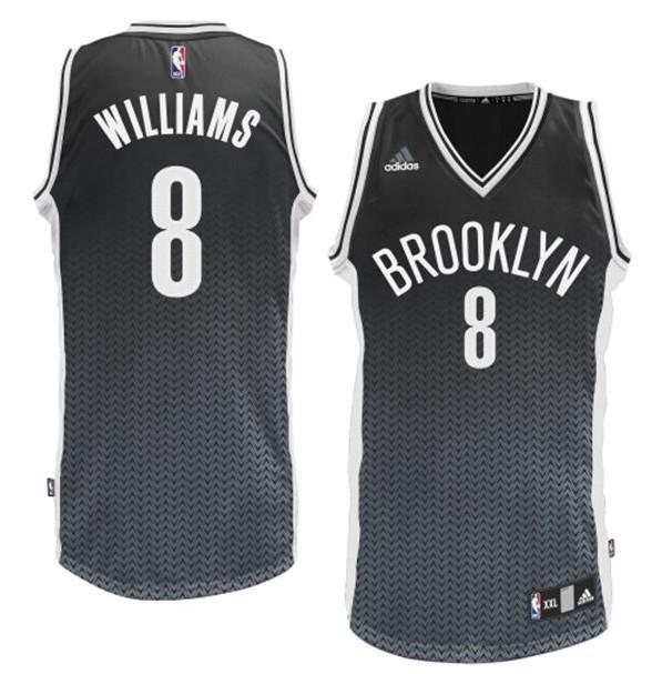 Brooklyn Nets 8 Williams Black Resonate Fashion Swingman Jersey