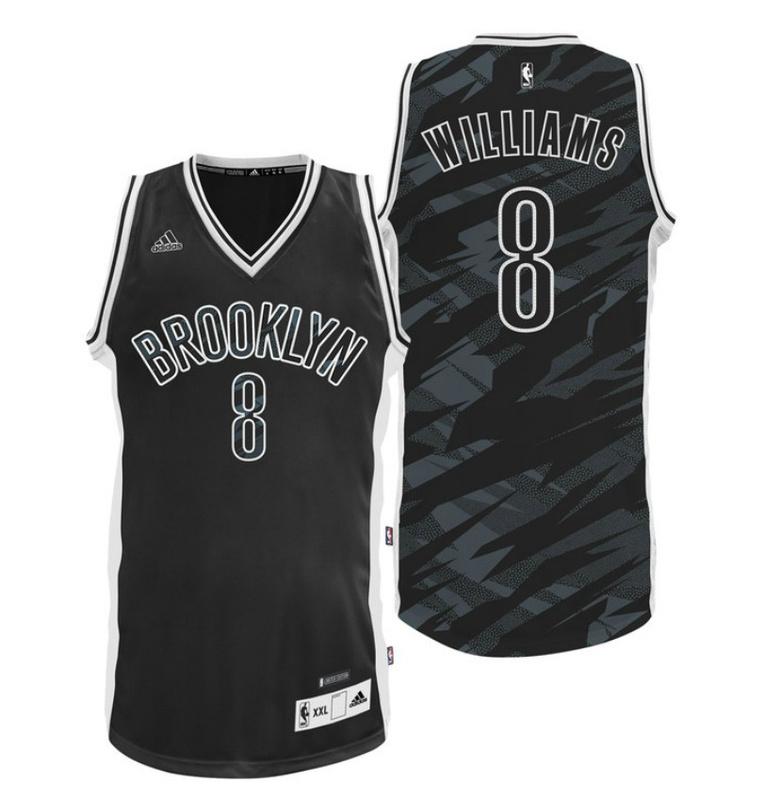 Brooklyn Nets 8 Williams Black Stacked Swingman Jerseys