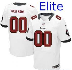 Nike Tampa Bay Buccaneers Customized Elite White Jerseys