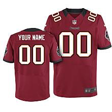 Nike Tampa Bay Buccaneers Customized Elite red Jerseys