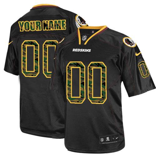Nike Washington Redskins Customized Elite Camo Black Jerseys