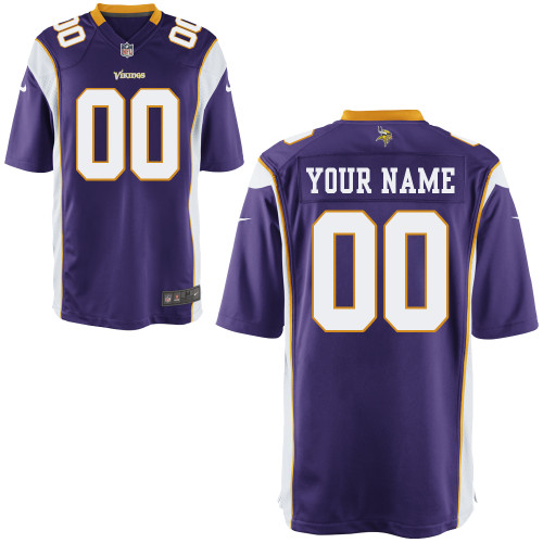 Nike Minnesota Vikings Customized Game Purple Jerseys
