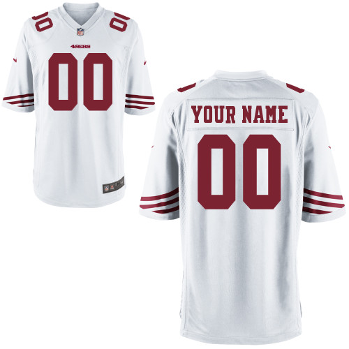 Nike San Francisco 49ers Customized Game White Jerseys