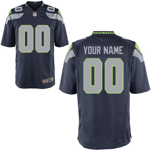 Nike Seattle Seahawks Customized Game Blue Jerseys