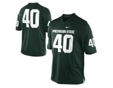 Michigan State Spartans 40 Max Bullough Green Jerseys