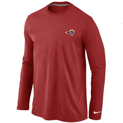 St.Louis Rams Sideline Legend Authentic Logo Long Sleeve T-Shirt Red
