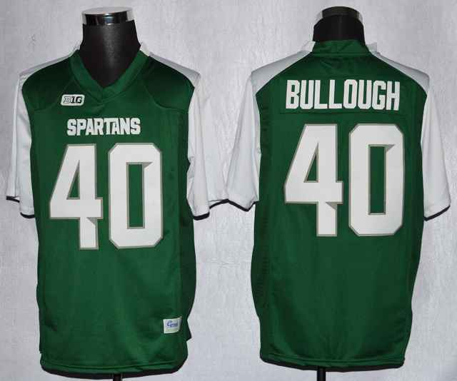Michigan State Max Bullough 40 College Green Jerseys