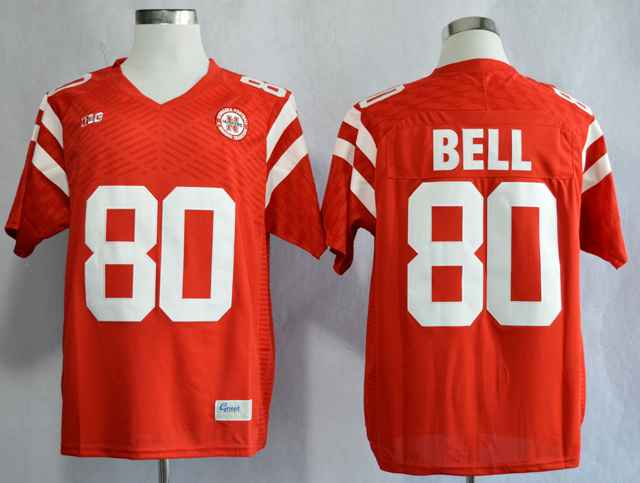 Nebraska Cornhuskers Kenny Bell 80 College Red Jersey