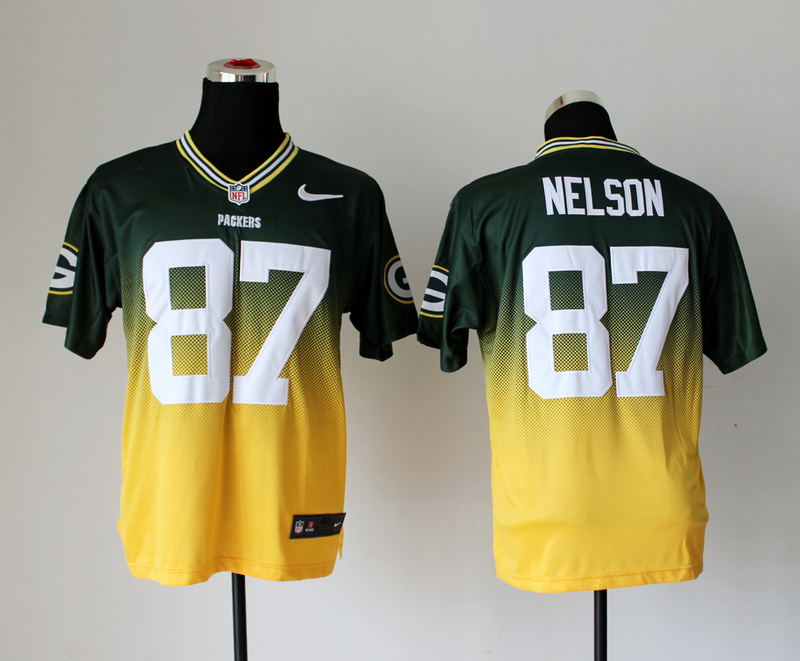 Nike Packers 87 Nelson Green And Gold Drift II Elite Jerseys