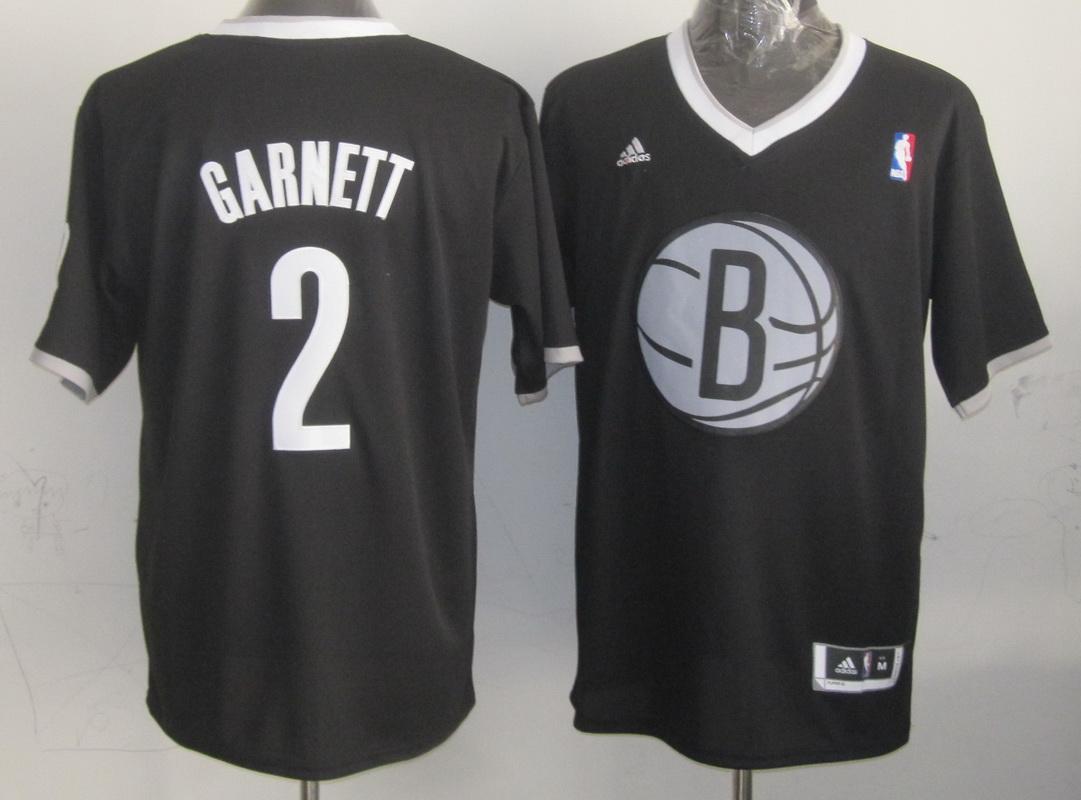Nets 2 Garnett Black Christmas Edition Jerseys