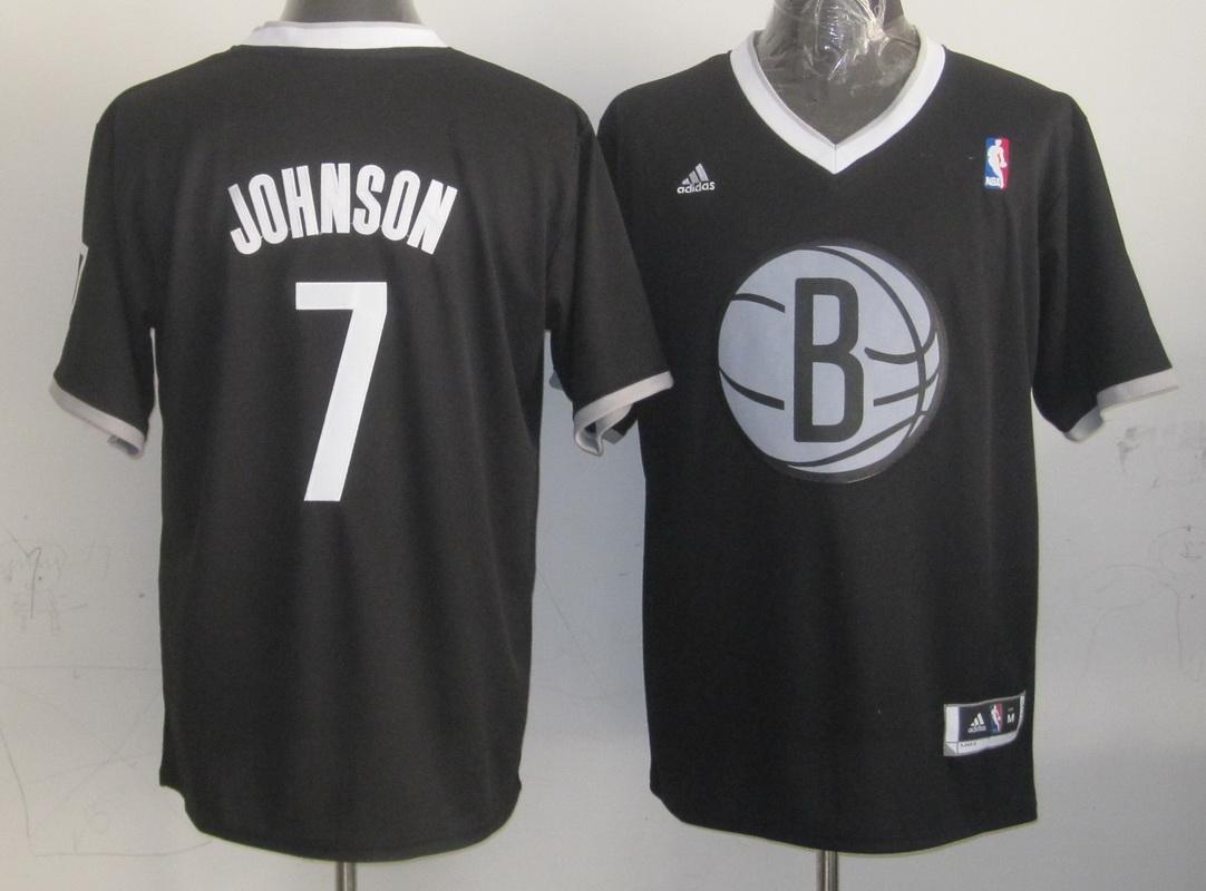 Nets 7 Johnson Black Christmas Edition Jerseys