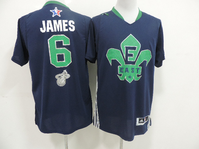 2014 All Star East 6 James Blue Swingman Jerseys