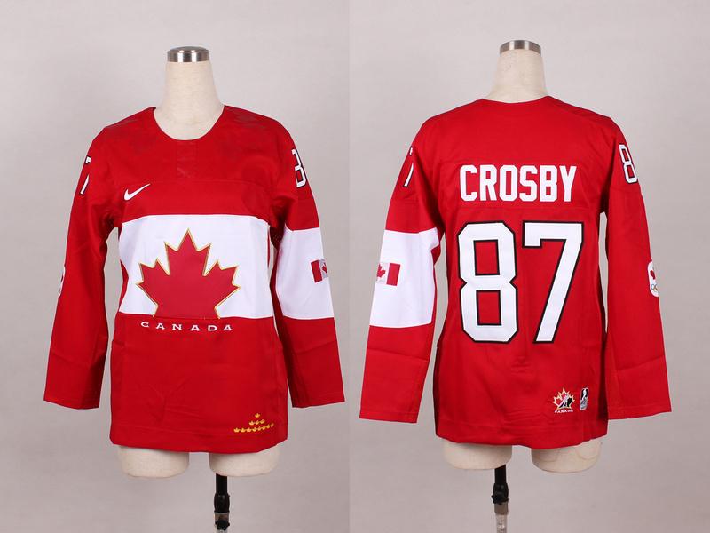 Canada 87 Crosby Red 2014 Olympics Women Jerseys