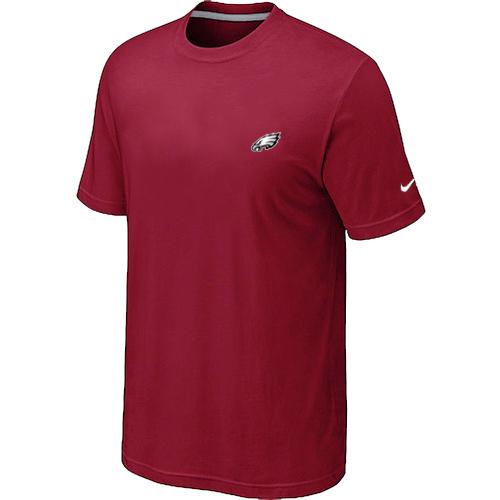 Nike Philadelphia Eagles Chest Embroidered Logo T Shirt Red
