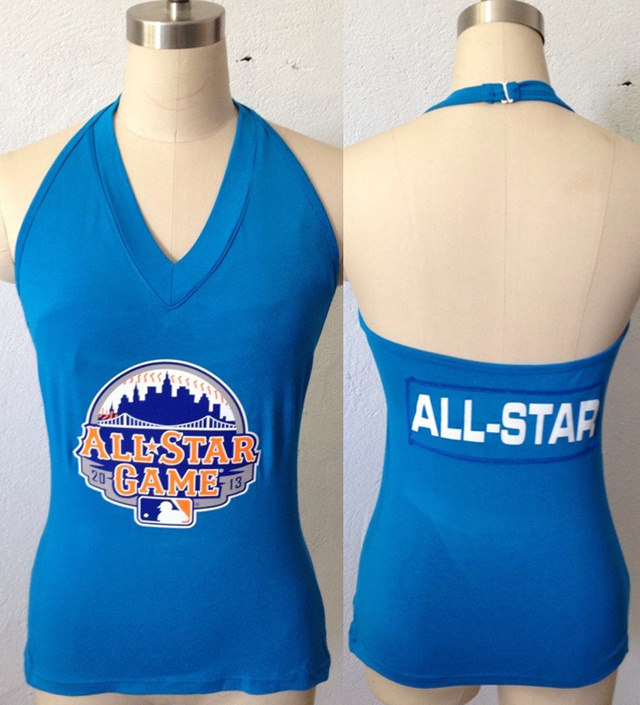 All Star Light Blue Women's Blown Cover Halter Top