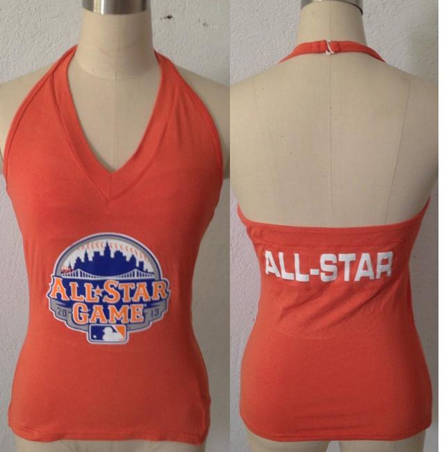 All Star Orange Women's Blown Cover Halter Top