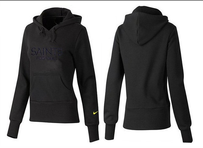 Nike Saints Team Logo Black Women Pullover Hoodies 04
