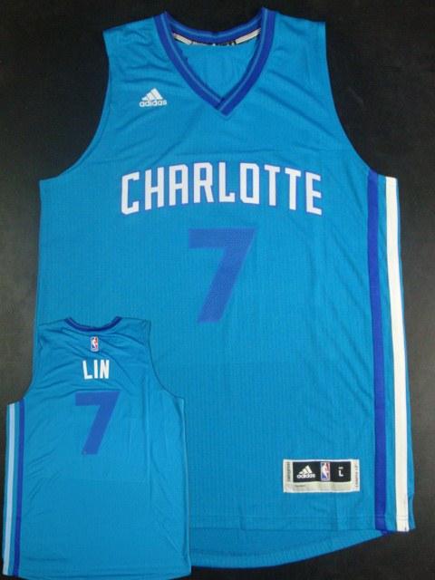Hornets 7 Jeremy Lin Teal Swingman Jersey