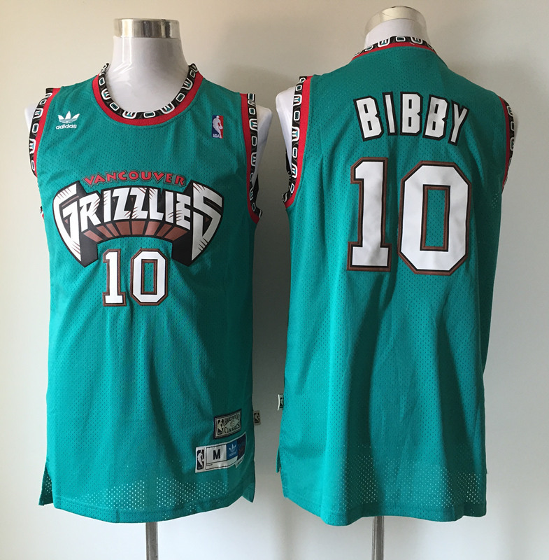 Grizzlies 10 Mike Bibby Teal Hardwood Classics Jersey