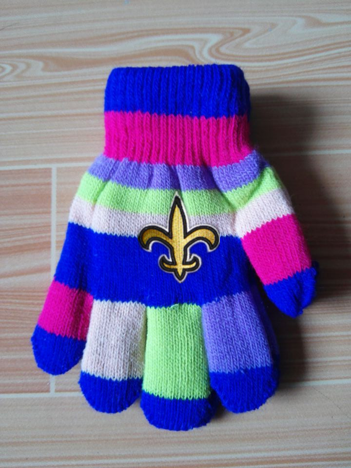 Saints Kids Knit Gloves