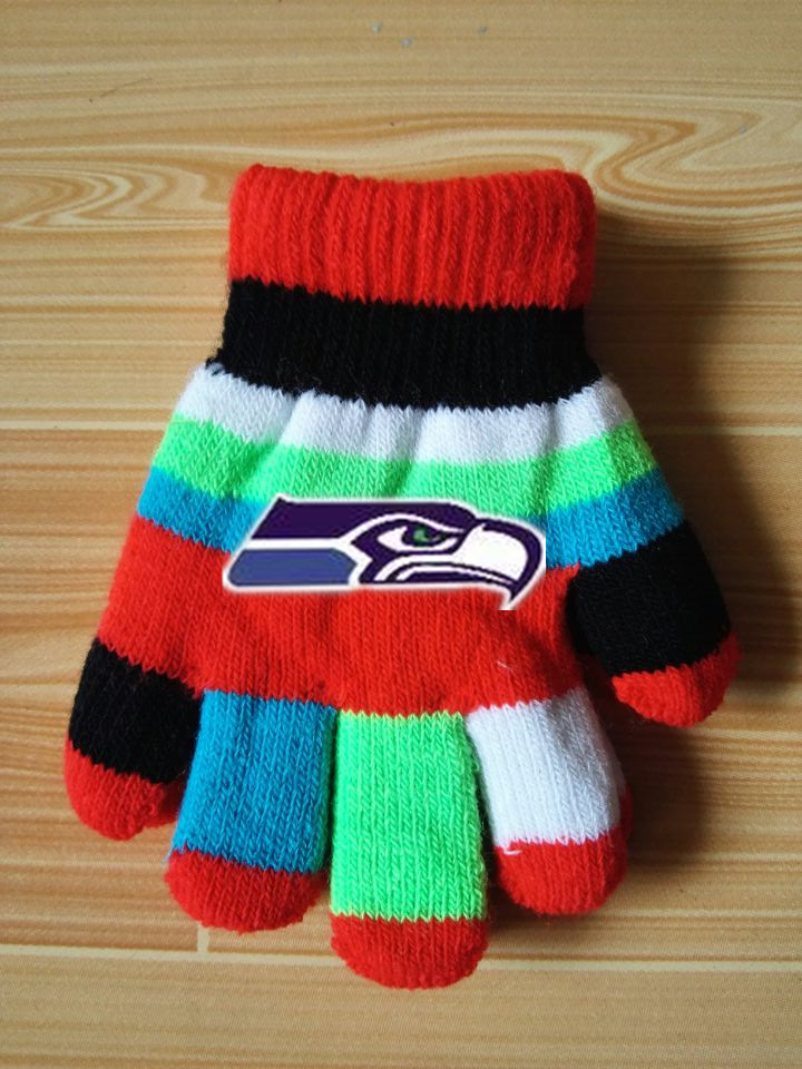 Seahawks Kids Knit Gloves2