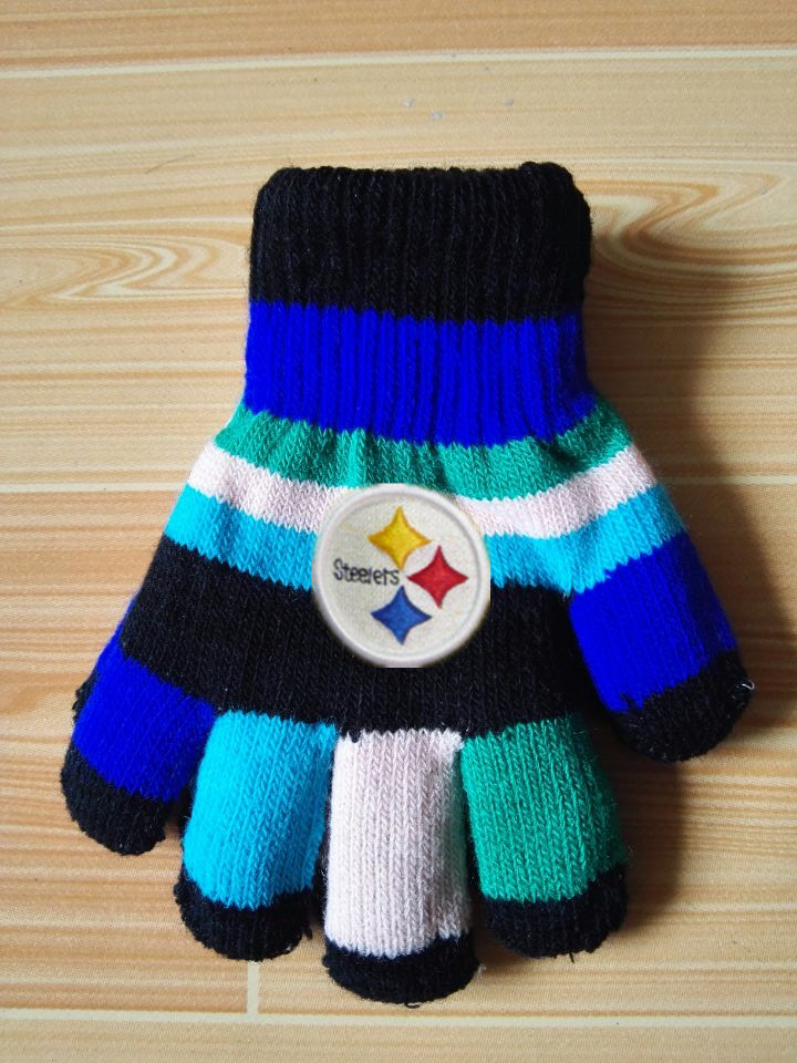 Steelers Kids Knit Gloves3