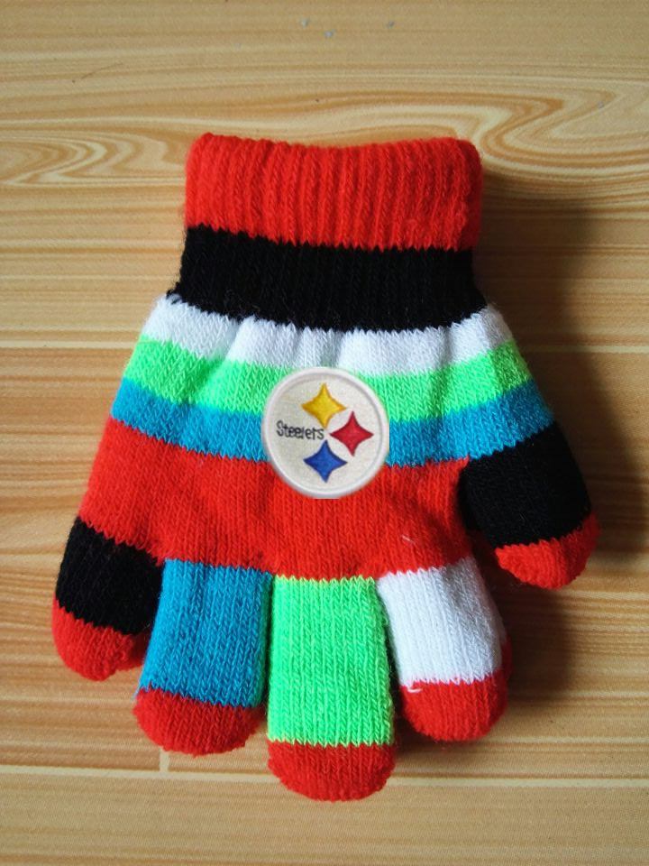 Steelers Kids Knit Gloves5