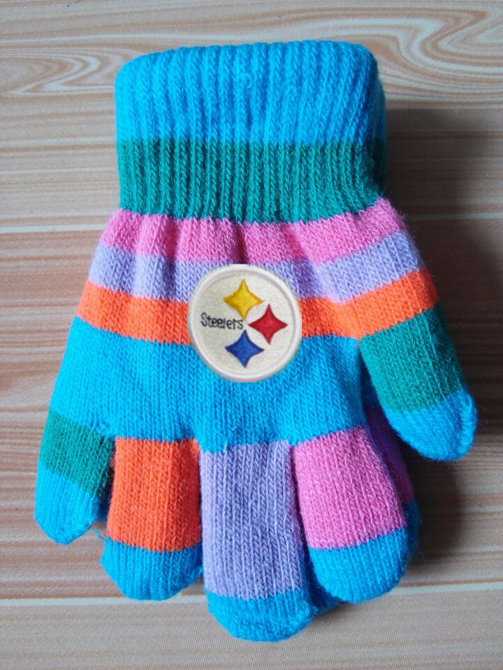 Steelers Kids Knit Gloves6