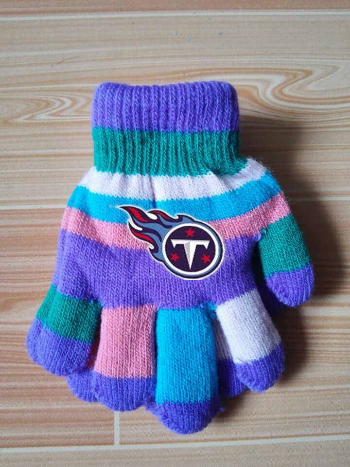 Titans Kids Knit Gloves5