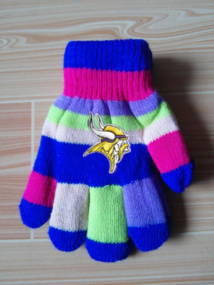 Vikings Kids Knit Gloves